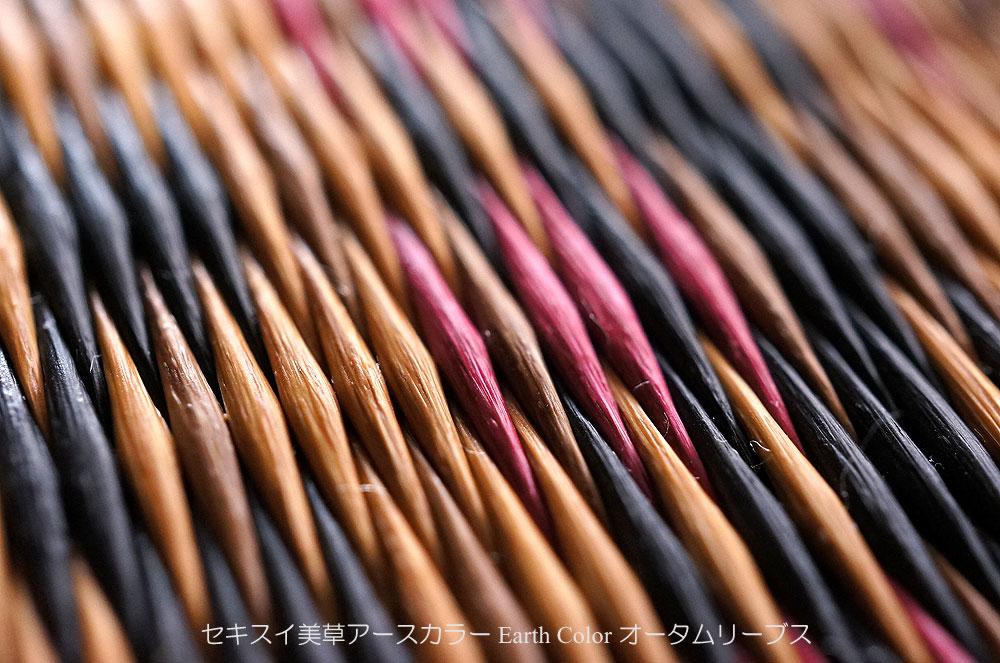 置き畳/ユニット畳セキスイ美草アースカラーオータムリーブスアップ写真