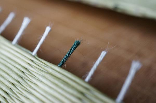 ダイケン銀白【市松】で製作する置き畳/ユニット畳銀白色×新銀白食