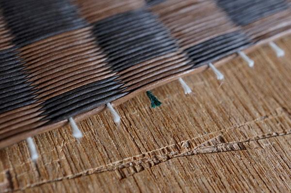 ダイケン銀白【市松】で製作する置き畳/ユニット畳栗色×胡桃色