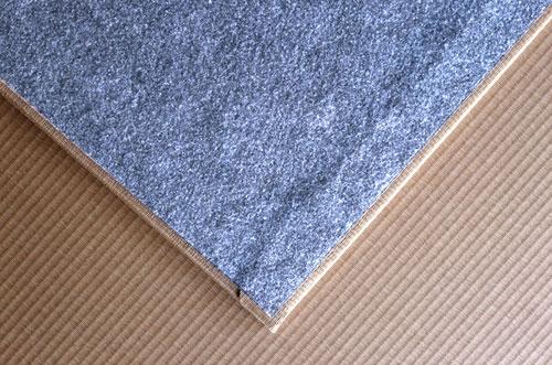 畳裏面にはすべ止めシートが施されており置き畳のズレを抑えます。