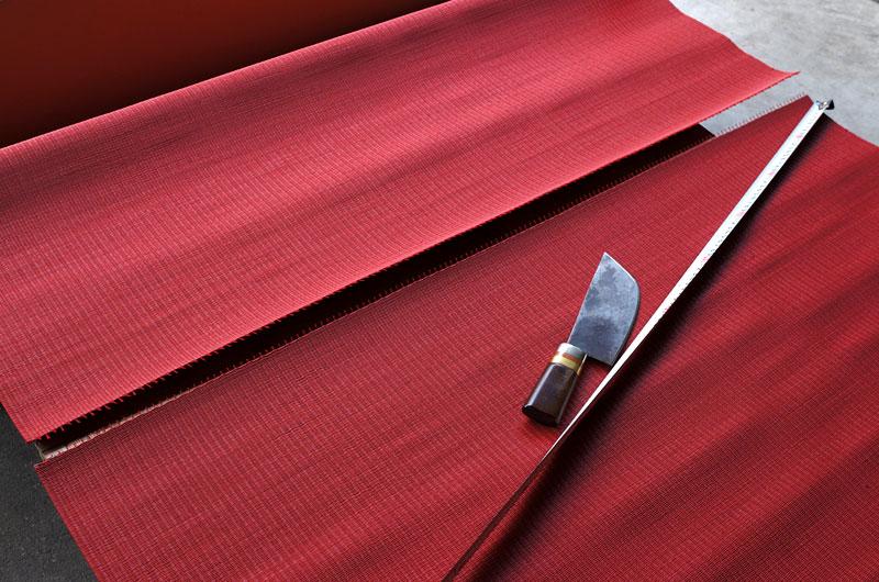 赤い畳のフローリング畳