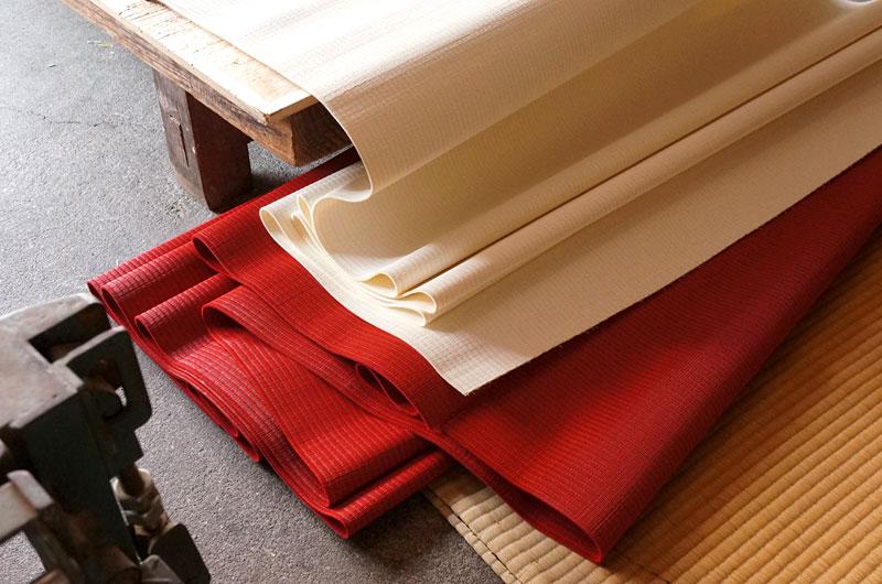 赤い畳表と白い畳表