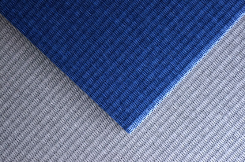 市松敷き置き畳ダイケン清流藍色×銀鼠色