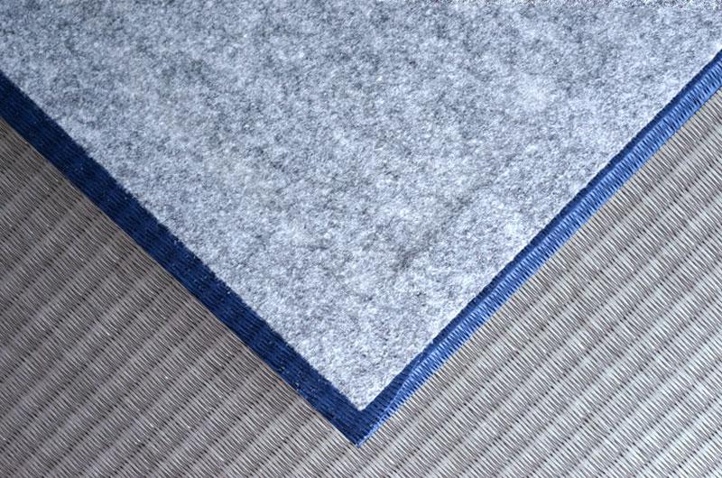 和紙表で作るカラーオーダーメイド置き畳藍色×銀鼠色
