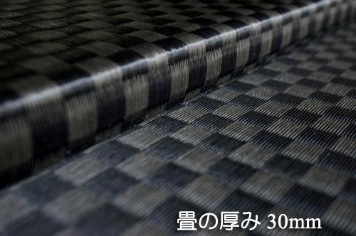 畳の厚み30mmセキスイ美草市松織りブラック(黒)