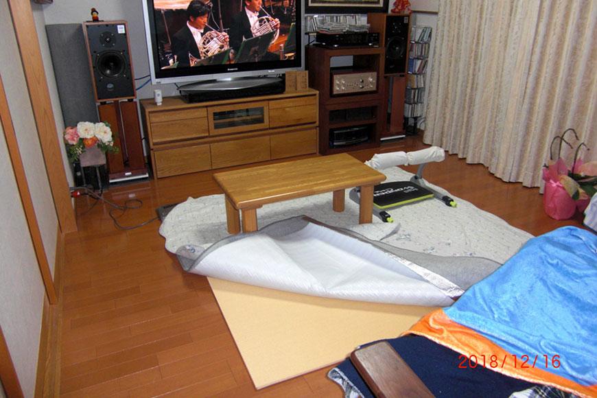 置き畳と保温シート