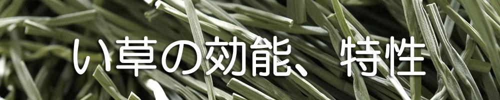 い草の効能、 特性