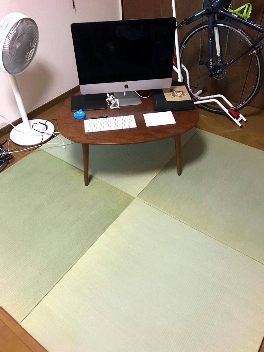 国産い草を使用した高級置き畳