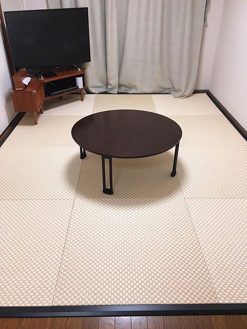 置き畳に枠で掃除ロボットが乗り越えられる