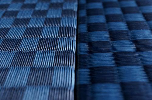 ユニット畳 セキスイ【美草】インディゴ 市松織り 畳の継ぎ目