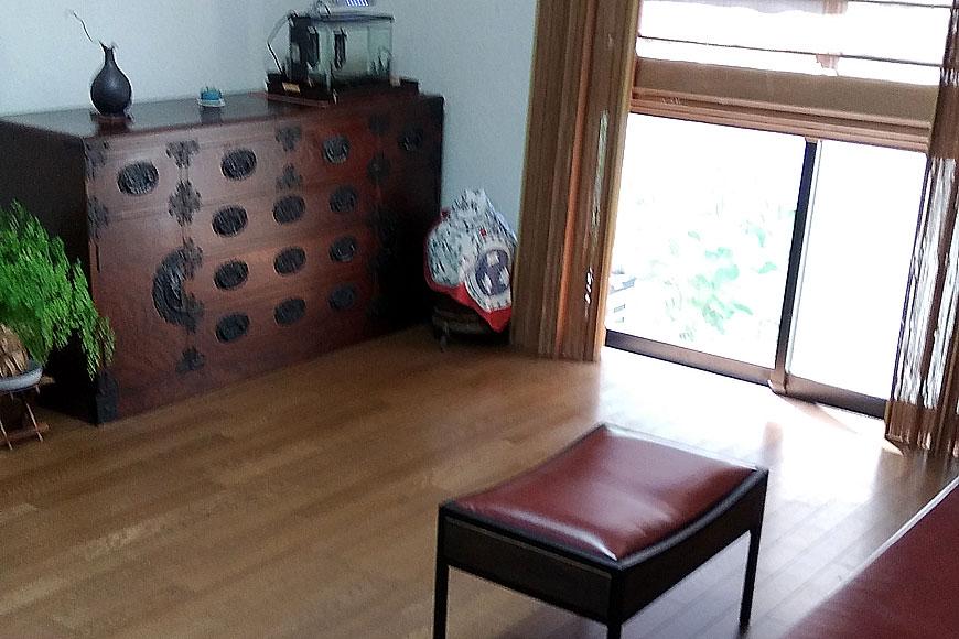 置き畳を敷きこむ前の部屋