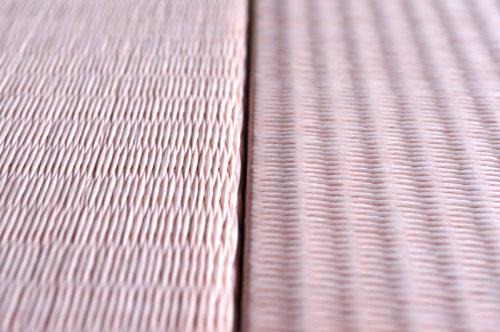 置き畳 薄桜色 市松敷き