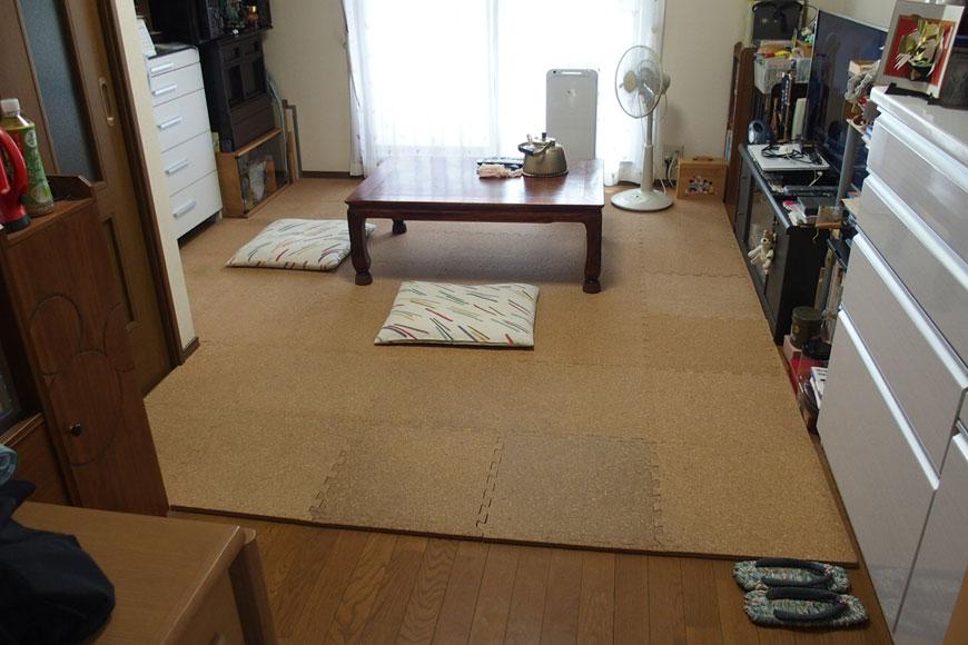 置き畳を敷く前
