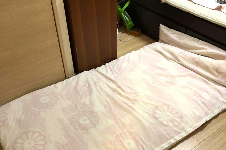 置き畳と布団