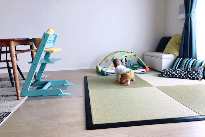 置き畳と赤ちゃん