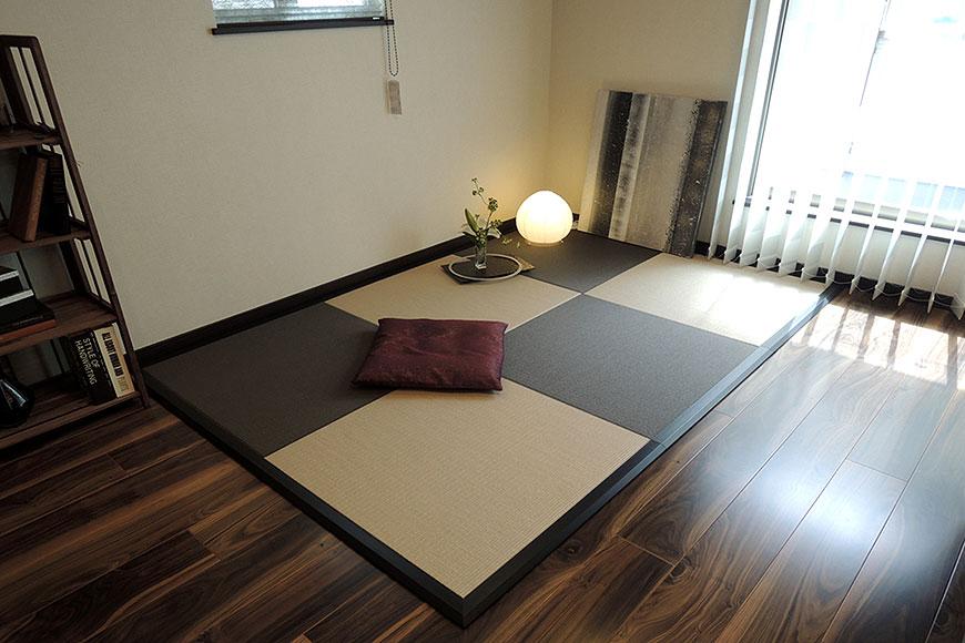 置き畳 ダイケン【清流】栗色×灰桜色