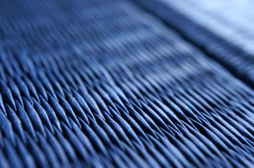 和紙製 置き畳【清流】藍色