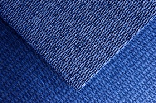 和紙製 置き畳【清流】藍色 市松