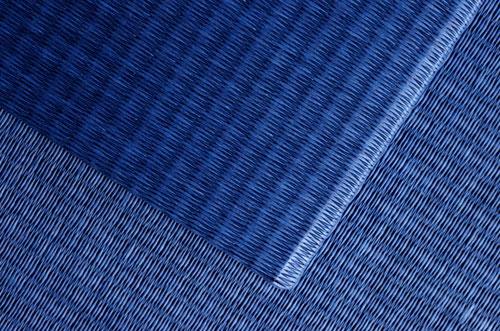 和紙製 置き畳【清流】藍色市松