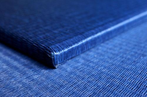和紙製 置き畳【清流】藍色 角部