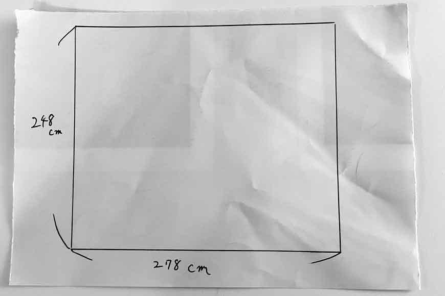 お客様から頂いた畳の図面