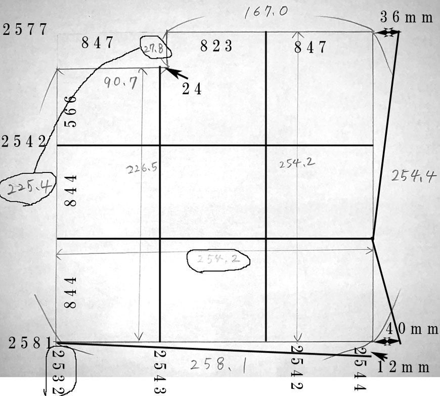 畳の割り付け サイズオーダー置き畳