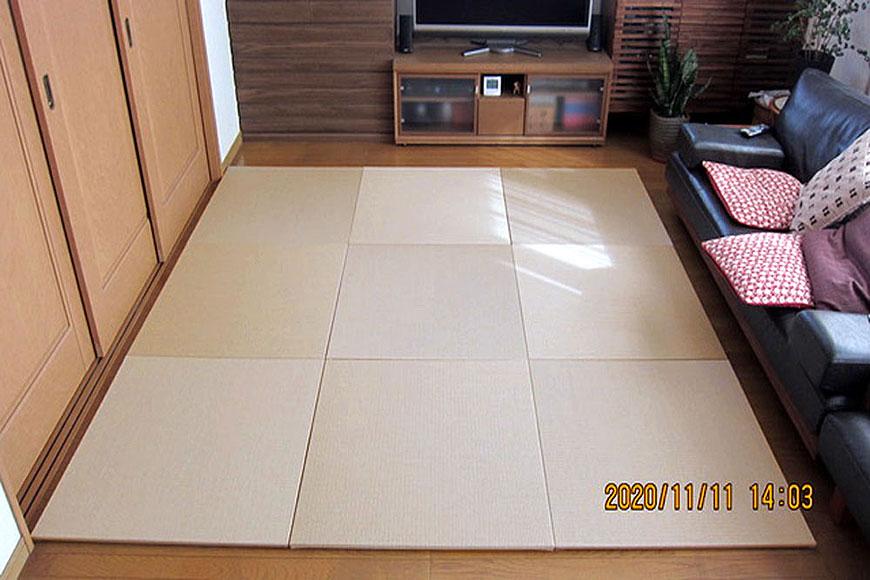 畳表の素材に和紙を使用した置き畳 ダイケン【清流】灰桜色