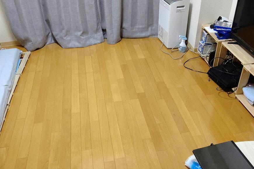 息子のアパートですが畳を置くことで良い居場所が出来ました:素材が和紙の置き畳