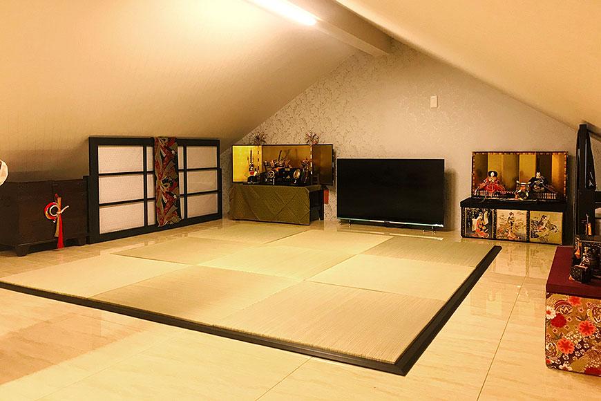 桃の節句 雛祭りに向け新しい畳に畳枠を設置