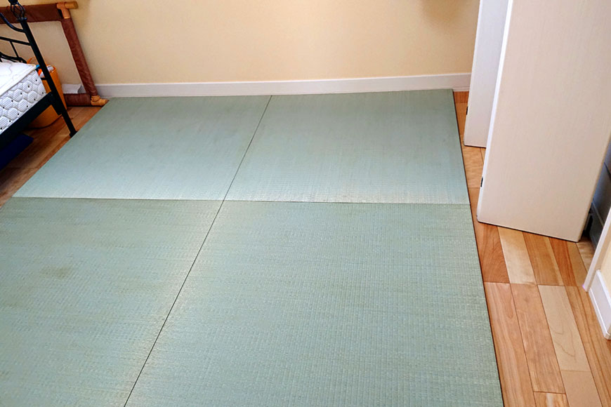 娘と孫が帰省するため置き畳を注文しました:純国産高級 置き畳「和極」