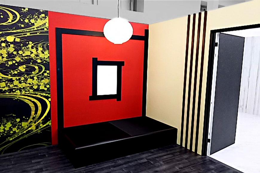 黒い畳と赤い畳
