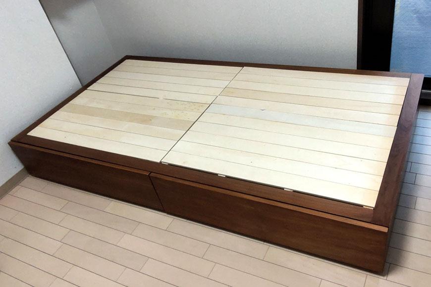 無印良品のベットと畳で収納できる小上がり畳ベッドに:清流 銀鼠色